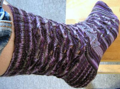 Zephyr Patterned Sock