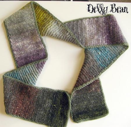 Herringbone scarf finished