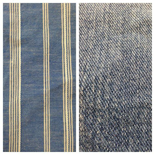 Left: striped chambray Right: denim