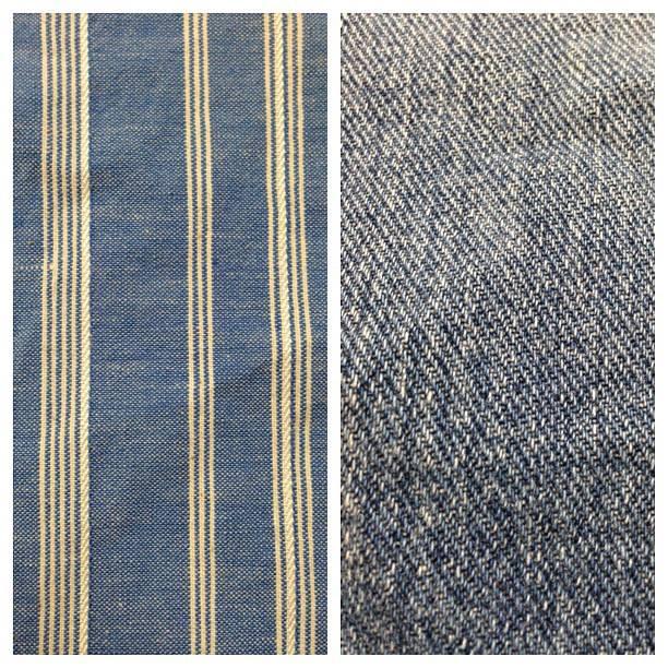 Left: striped chambray Right: denim